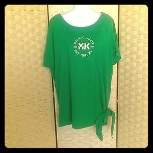 Womens Michael Kors Green T-shirt Size XL